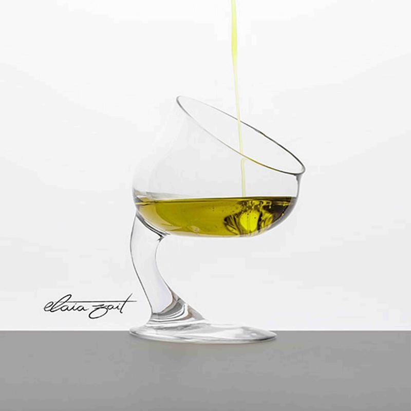 Verre de dégustation hédonique d'huile d'olive Elaia zait