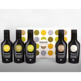 Melgarejo Pack Varieties. Case with 5 bottles of 250 ml.