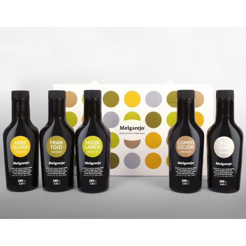 Comprar estuche aceite Melgarejo 5 variedades