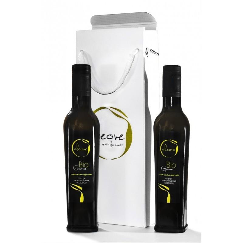 Estuche regalo de aceite de oliva de alta calidad Oleove Gourmet