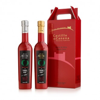 Castillo de Canena Harvest Day Arbequina and Picual. Case with two bottles of 500 ml.