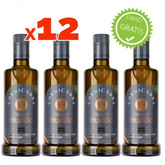 Casas de Hualdo Huile d'olive vierge extra 500 ml. Pack de 12 bouteilles combinables