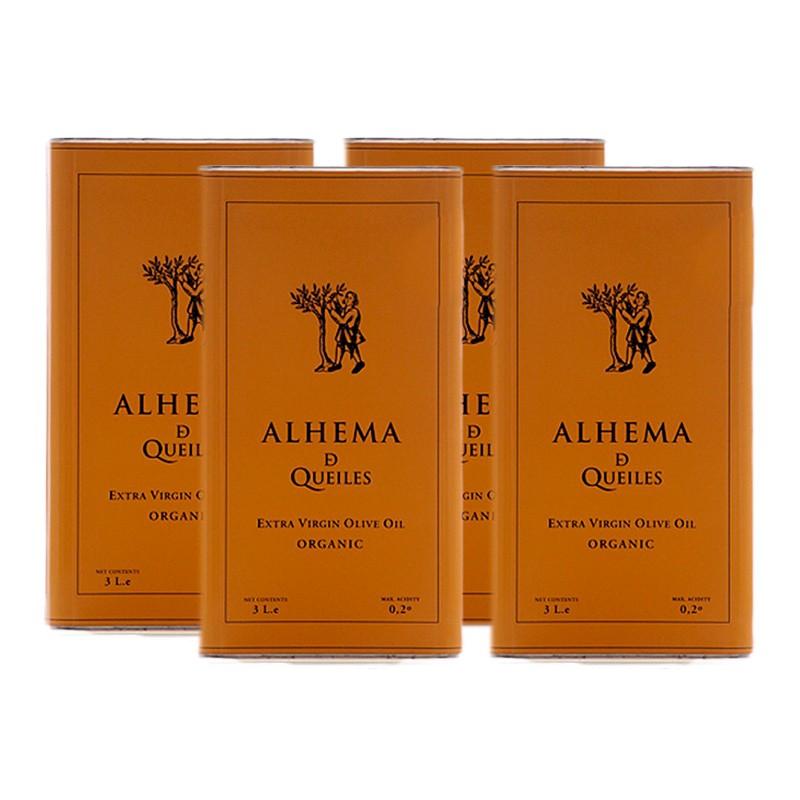 Lata Alhema de Queiles de 3 litros Ecológico x4