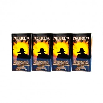 Parqueoliva Oil Serie Oro DOP. 4 Cans of 3 litres.