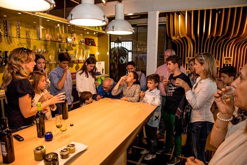 tasting of olive oil