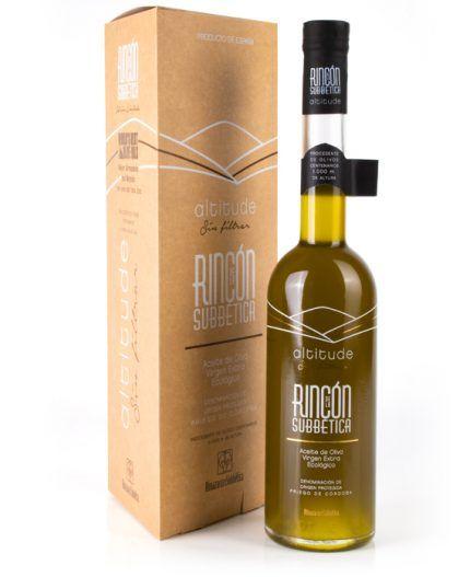 Packaging de Rincón de la Subbética Altitude mejores aceites del mundo