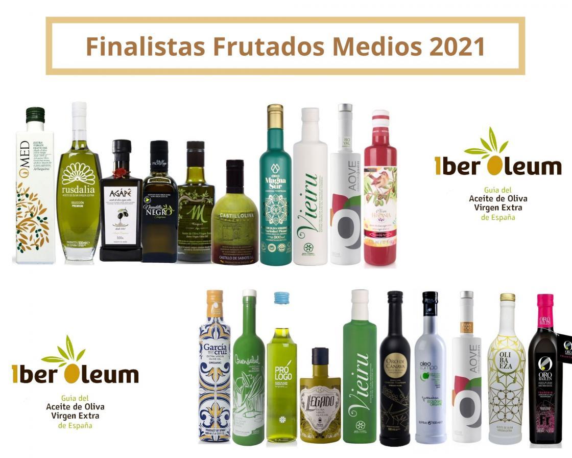 IberOleum listado finalistas aceites frutado medio 2021