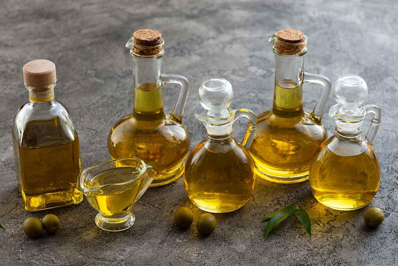Aceites de oliva virgen extra en diferentes envases